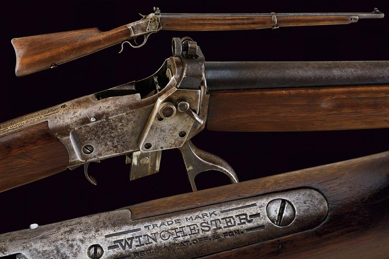 A Winchester Third Model Low Wall Musket (Winder Musket)