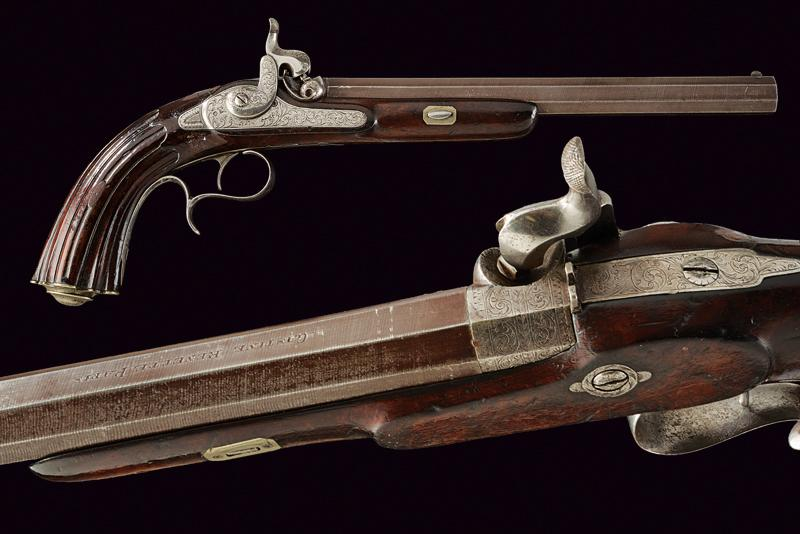 A percussion target pistol by Gastin Renette