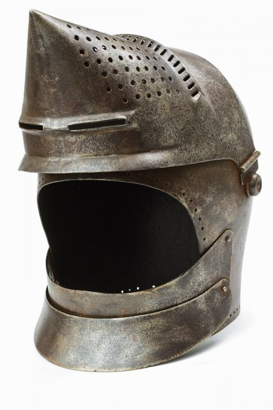 A bascinet in the style of late 14th century - Image 4 of 6