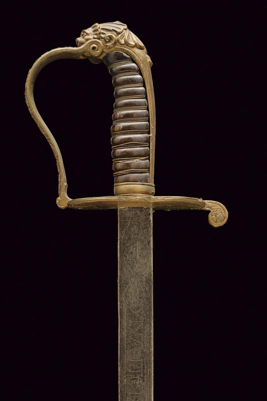 A Guardia Civica officer's sabre, model 1847 - Image 2 of 6