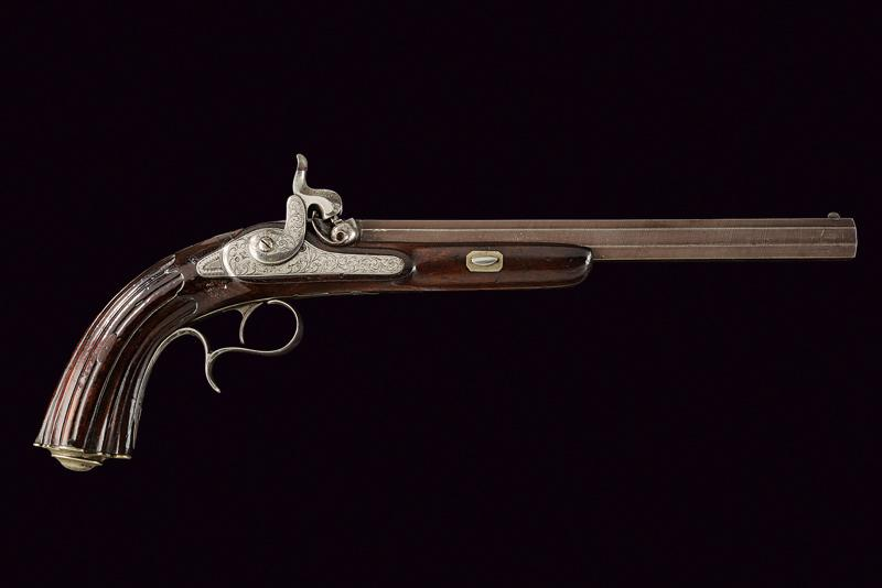 A percussion target pistol by Gastin Renette - Image 5 of 5