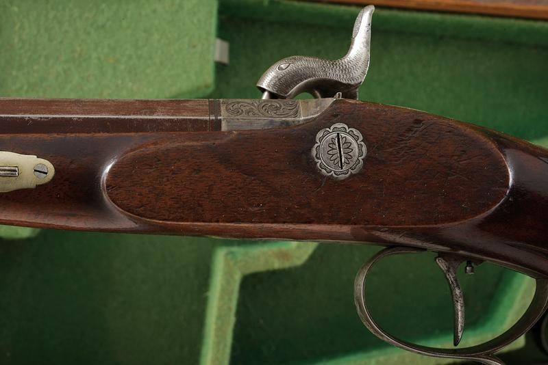 A pair of cased percussion pistols by Kuchenreuter - Image 5 of 6