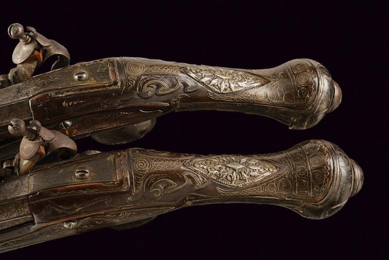 A pair of flintlock pistols - Image 4 of 4