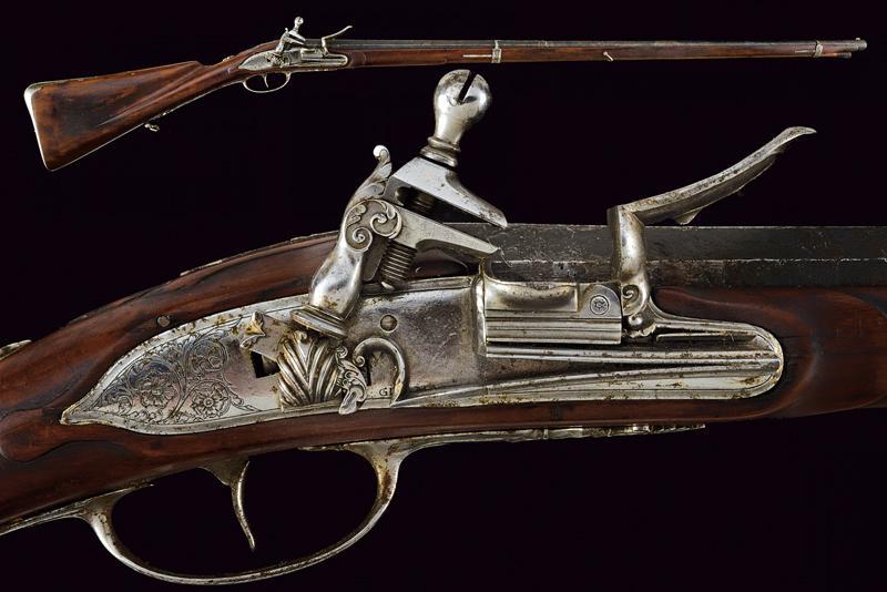 A fine flintlock gun by Gio Mariani