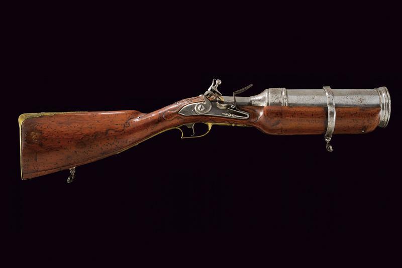 A very scarce flintlock grenade launcher by David Dick - Image 10 of 10