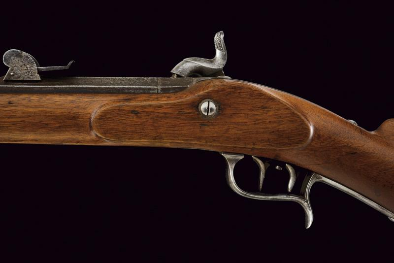 An 1851 model percussion carbine with bayonet - Image 8 of 9
