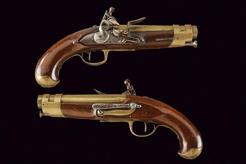 A pair of port gendarmerie pistols