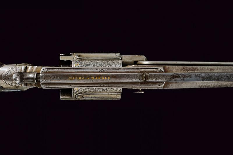 A percussion revolving rifle by Mazza - Image 8 of 11