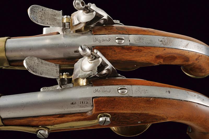 A pair of AN IX flintlock pistols - Image 3 of 7