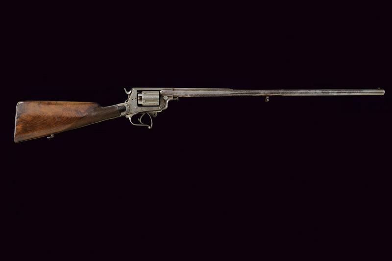 A percussion revolving rifle by Mazza - Image 11 of 11