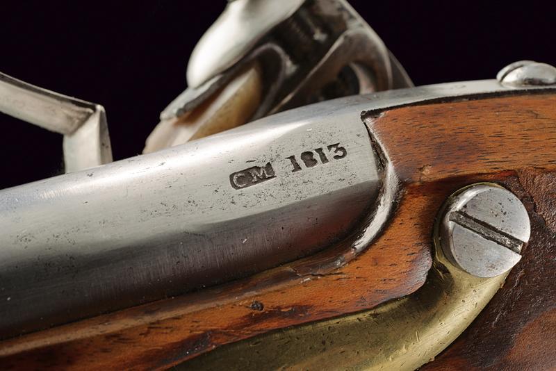 A pair of AN IX flintlock pistols - Image 4 of 7