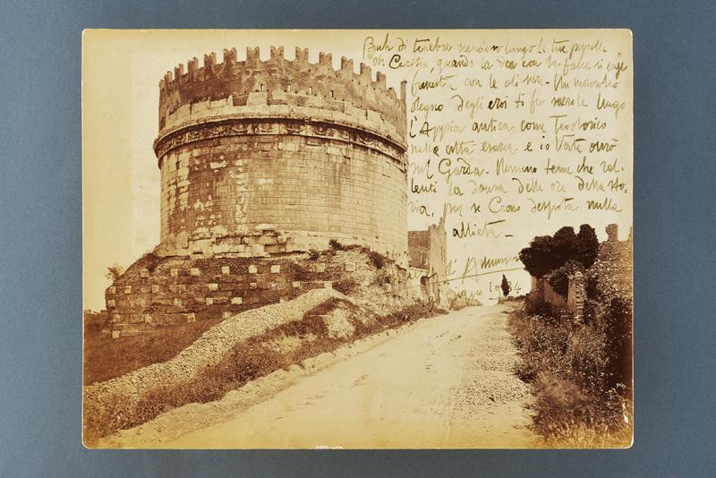 D'Annunzio, Gabriele - picture by Alinari with an autograph dedication