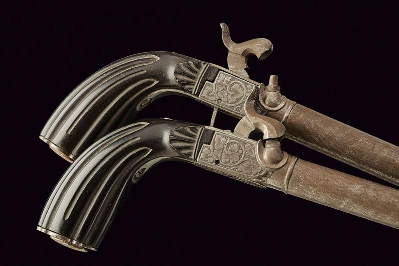A pair of long barrelled percussion pistols - Image 3 of 3