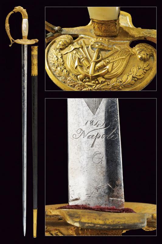A rare navy officer's small sword