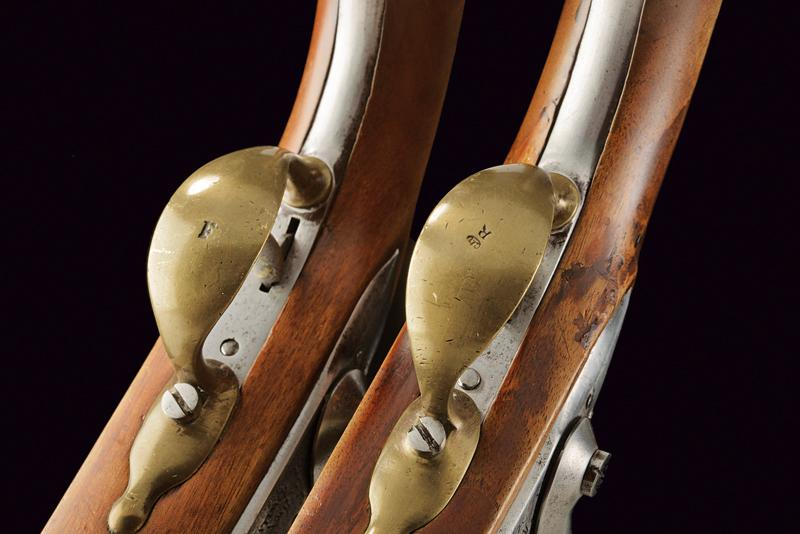 A pair of AN IX flintlock pistols - Image 5 of 7