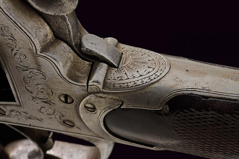 A percussion revolving rifle by Mazza - Image 6 of 11