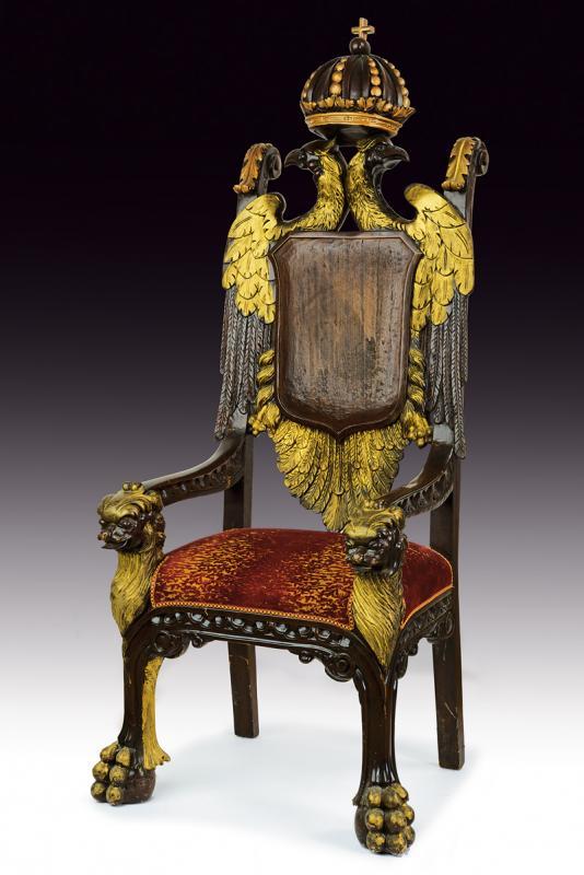 An important masonic throne