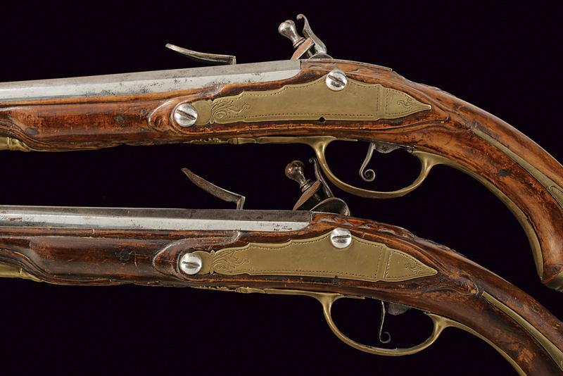 A pair of flintlock holster pistols - Image 3 of 5