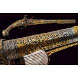 A fine and interesting flintlock pistol
