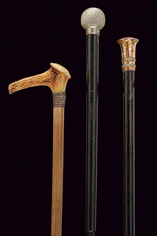 A lot of three walking sticks - Image 2 of 2