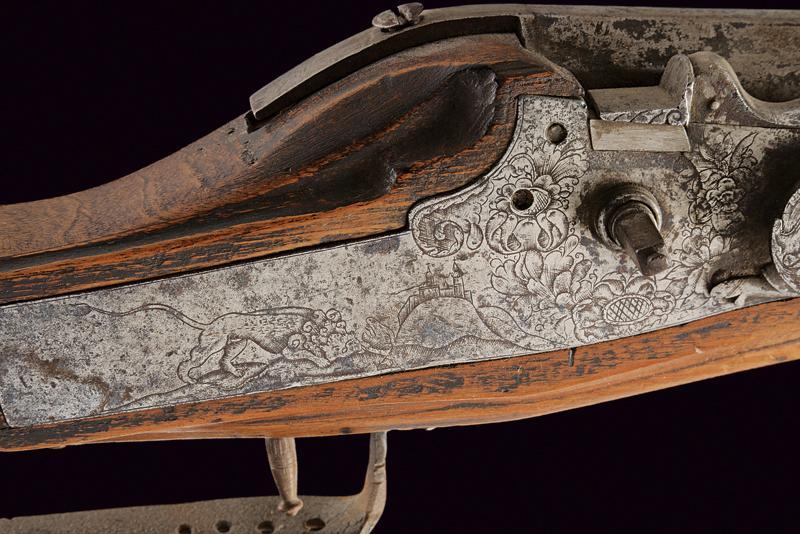 A composite wheel lock gun - Image 8 of 9