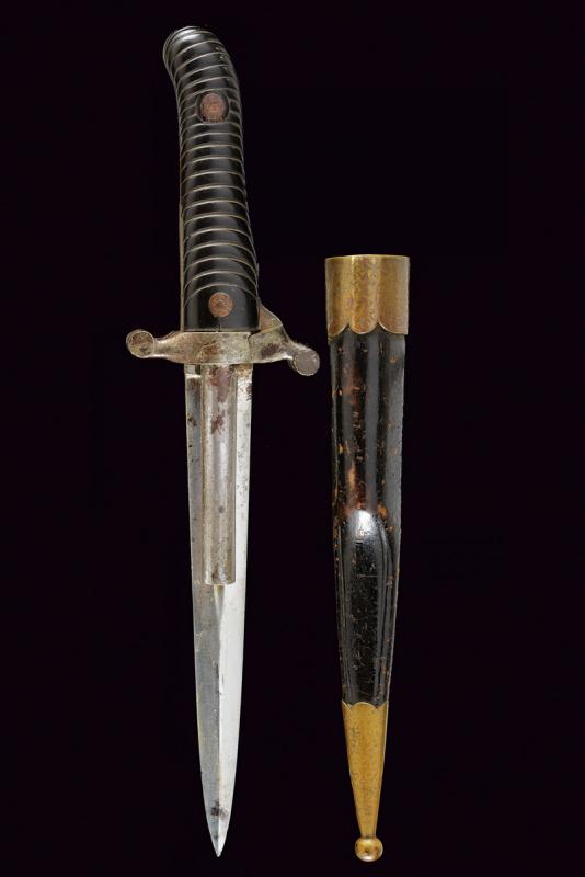 A Dumonthier type double barrelled percussion knife-pistol by A. Francotte - Image 9 of 9