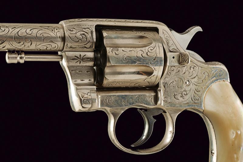 An engraved 1889 model Colt revolver - Image 2 of 4