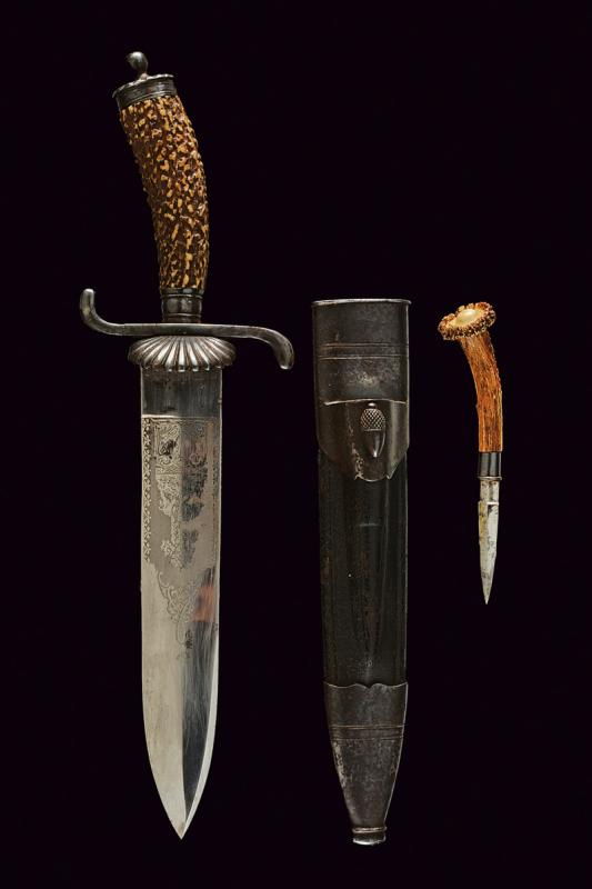 A hunting knife