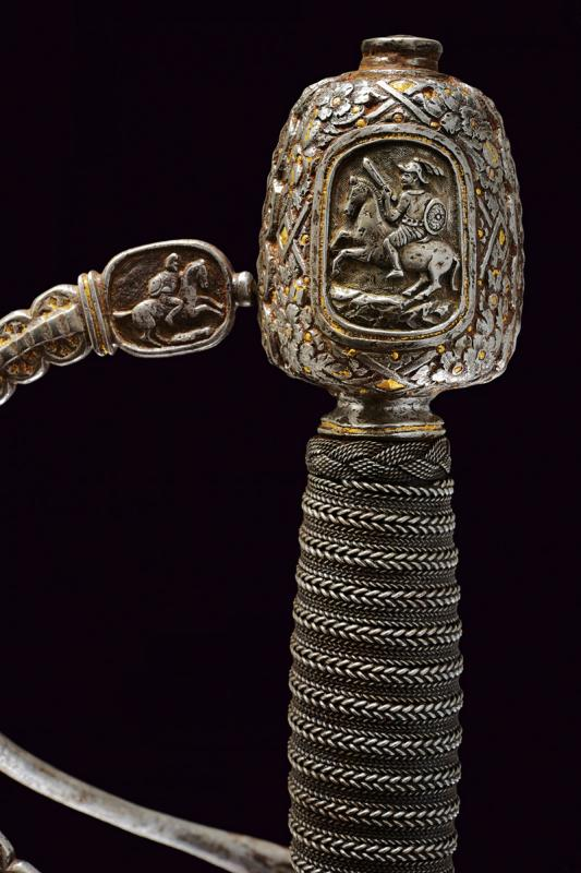A magnificent swept hilt rapier in the style of Othmar Wetter - Image 8 of 11