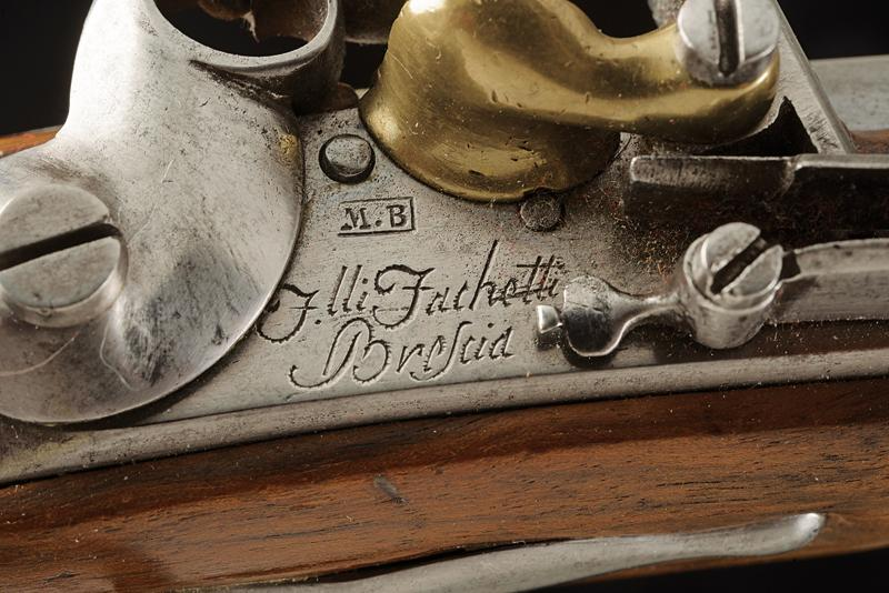 A pair of gendarmerie flintlock pistols by Facchetti - Image 2 of 6
