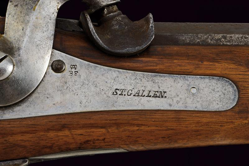 An 1851 model percussion carbine with bayonet - Image 2 of 9