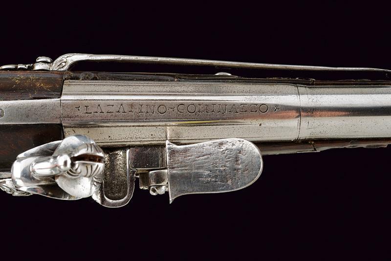 A beautiful pair of flintlock pistols by Francesco Garatto - Image 7 of 13