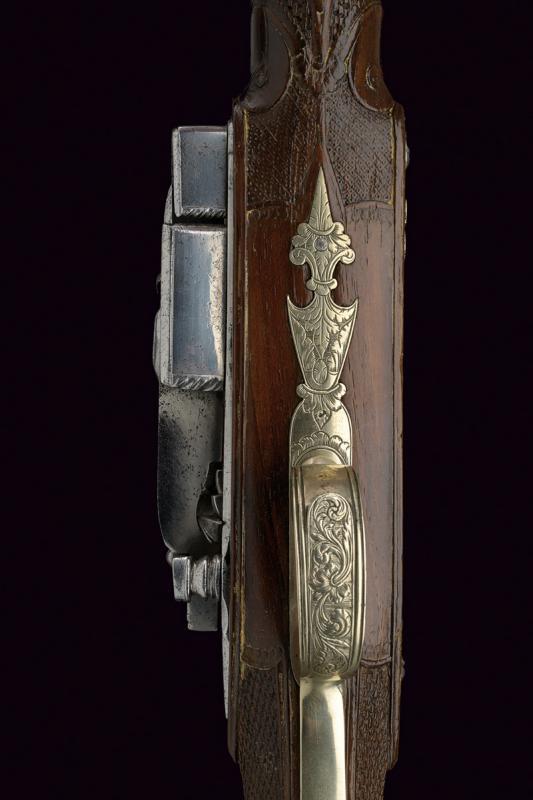 A beautiful miquelet flintlock gun - Image 5 of 10