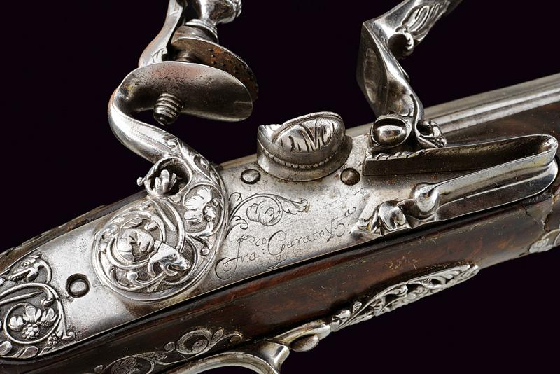 A beautiful pair of flintlock pistols by Francesco Garatto - Image 8 of 13