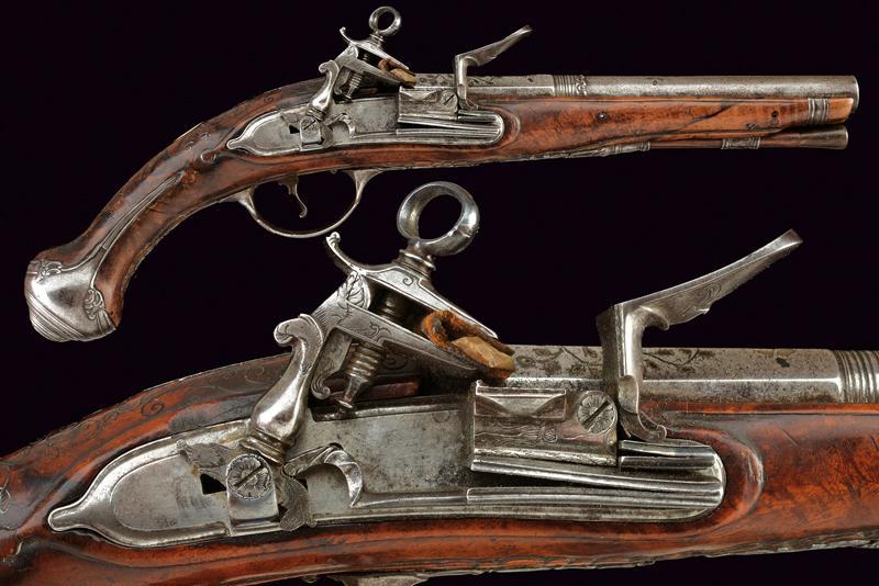 A roman style flintlock pistol