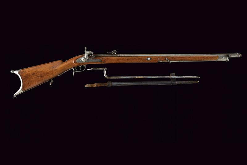 An 1851 model percussion carbine with bayonet - Image 9 of 9
