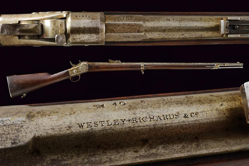 A Remington Rolling Block rifle by Westley Richards