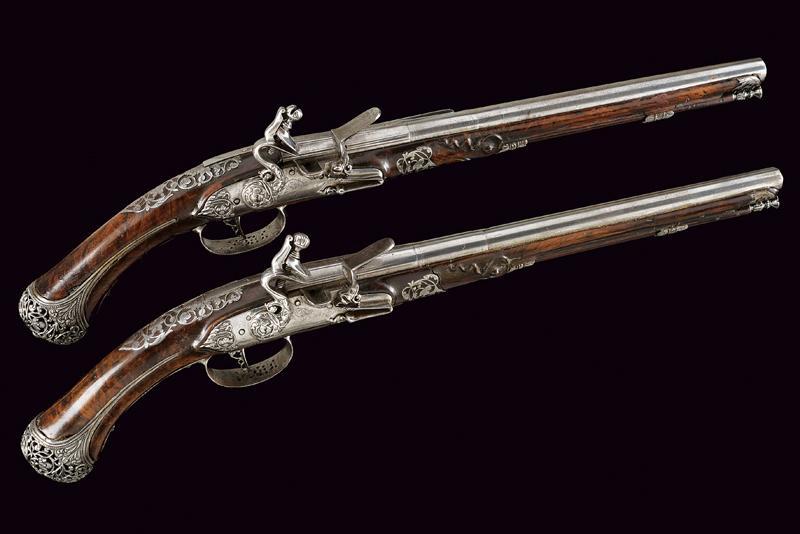 A beautiful pair of flintlock pistols by Francesco Garatto - Image 12 of 13