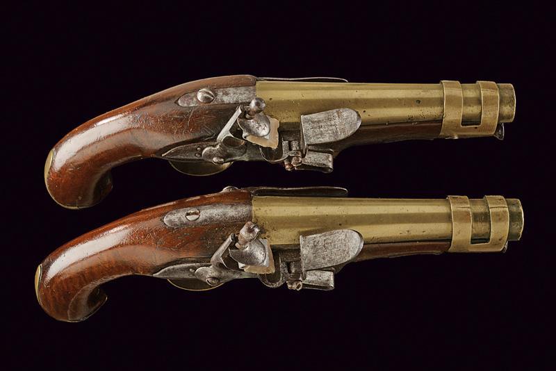 A pair of port gendarmerie pistols - Image 2 of 4