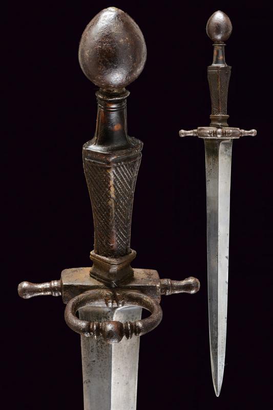 A rare left hand dagger