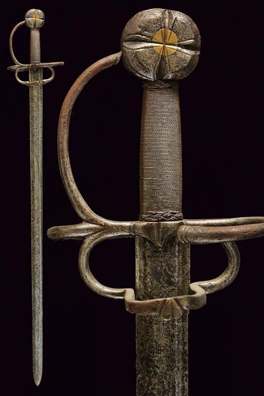 A cavalry sword