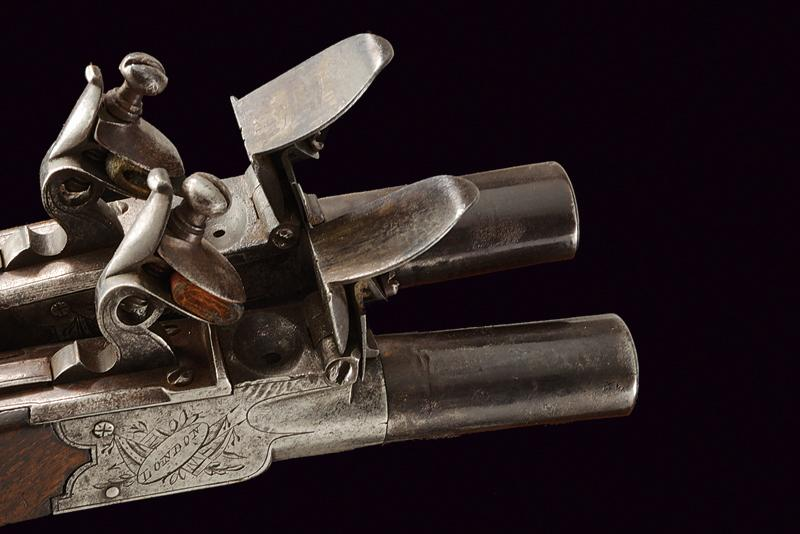 A pair of cased flintlock pocket pistols by Hill - Image 4 of 4