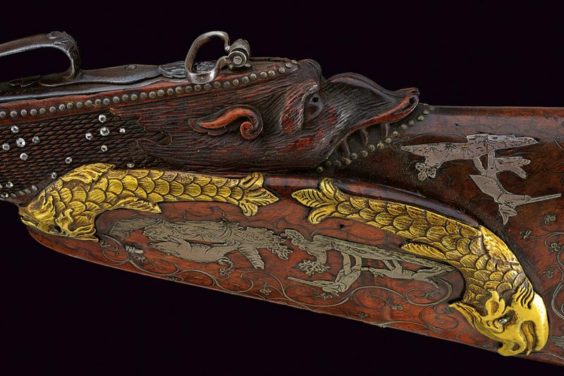 A very rare double-barrelled flintlock sporting gun by Gauvain - Image 8 of 14