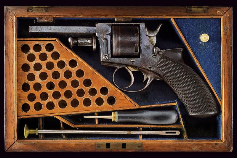 A cased centerfire revolver by Charles Ingram