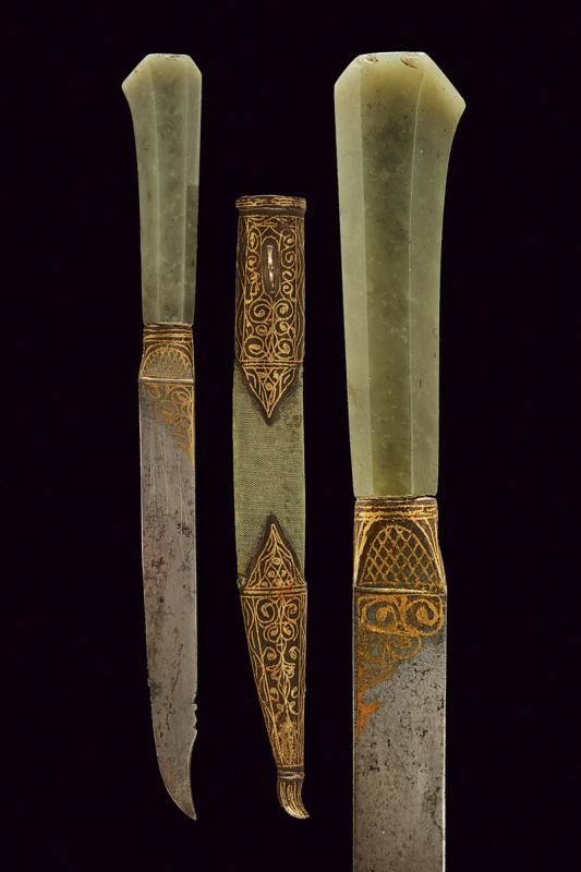 A jade hilted knife