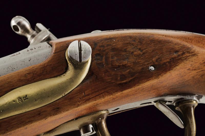 A pair of AN IX flintlock pistols - Image 2 of 7