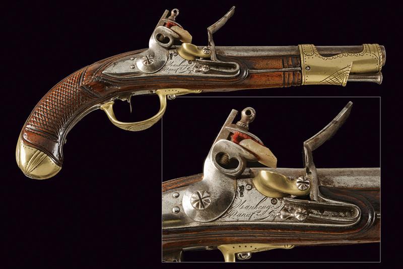 An AN IX flintlock pistol