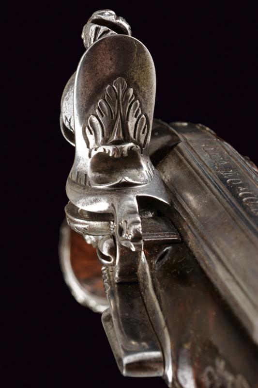 A beautiful pair of flintlock pistols by Francesco Garatto - Image 9 of 13