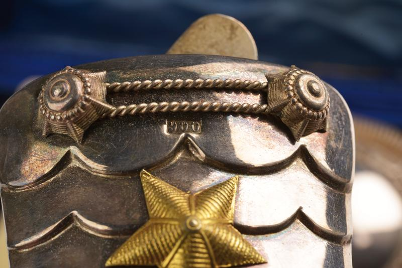 An interesting cased pair of silver epaulettes with case - Image 6 of 8
