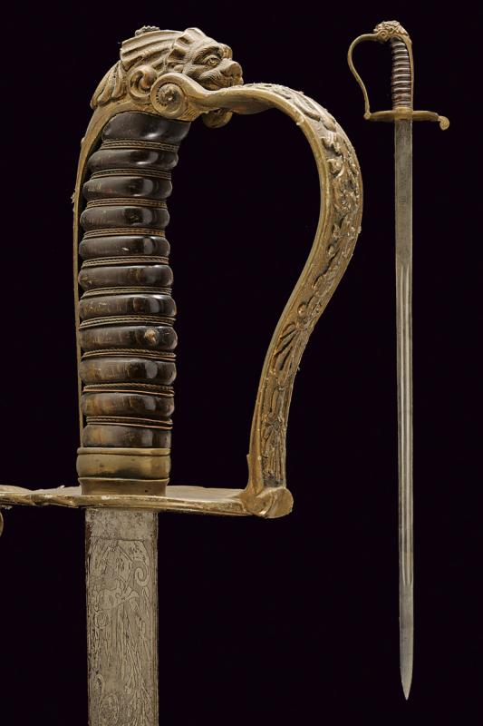 A Guardia Civica officer's sabre, model 1847